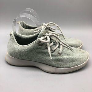 Allbirds mint green wool runners lace-up sneakers